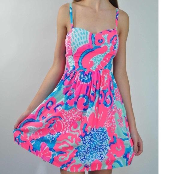bbbc158002c5 Lilly Pulitzer Dresses | Christine Dress Coral Reef | Poshmark